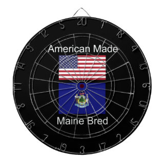 """American Born..Maine Bred"" Flags and Patriotism Dartboard"
