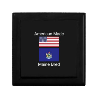 """""""American Born..Maine Bred"""" Flags and Patriotism Gift Box"""