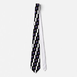 """""""American Born..Maine Bred"""" Flags and Patriotism Tie"""