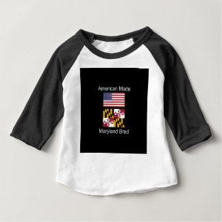 """American Born..Maryland Bred"" Flag Design Baby T-Shirt"