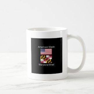 """""""American Born..Maryland Bred"""" Flag Design Coffee Mug"""