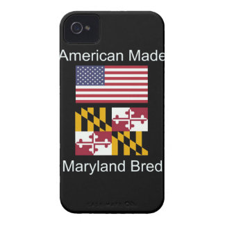 """American Born..Maryland Bred"" Flag Design iPhone 4 Case-Mate Case"