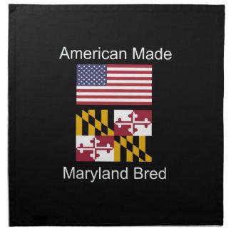 """American Born..Maryland Bred"" Flag Design Napkin"