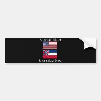 """""""American Born..Mississippi Bred"""" Flag Design Bumper Sticker"""