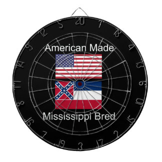 """American Born..Mississippi Bred"" Flag Design Dartboard"