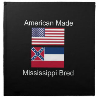 """American Born..Mississippi Bred"" Flag Design Napkin"