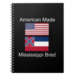 """""""American Born..Mississippi Bred"""" Flag Design Notebooks"""