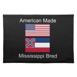 """American Born..Mississippi Bred"" Flag Design Placemat"