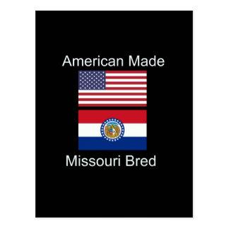 """American Born..Missouri Bred"" Flag Design Postcard"