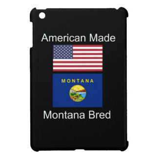 """American Born..Montana Bred"" Flags and Patriotism Case For The iPad Mini"
