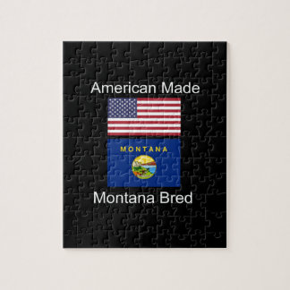 """American Born..Montana Bred"" Flags and Patriotism Jigsaw Puzzle"