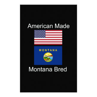 """""""American Born..Montana Bred"""" Flags and Patriotism Personalized Stationery"""