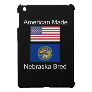 """American Born..Nebraska Bred"" Flag Design iPad Mini Cases"