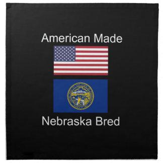 """""""American Born..Nebraska Bred"""" Flag Design Napkin"""