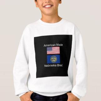 """American Born..Nebraska Bred"" Flag Design Sweatshirt"