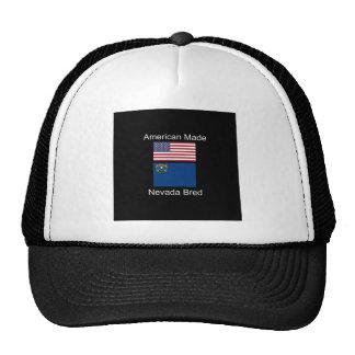 """American Born..Nevada Bred"" Flags and Patriotism Cap"