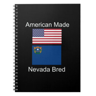 """American Born..Nevada Bred"" Flags and Patriotism Notebook"