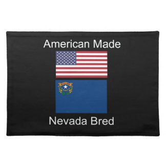 """American Born..Nevada Bred"" Flags and Patriotism Placemat"