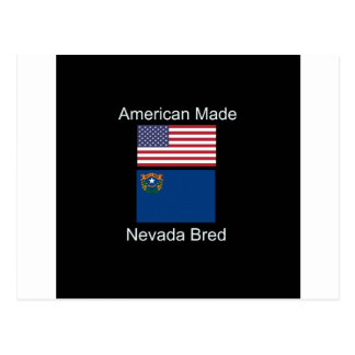 """""""American Born..Nevada Bred"""" Flags and Patriotism Postcard"""