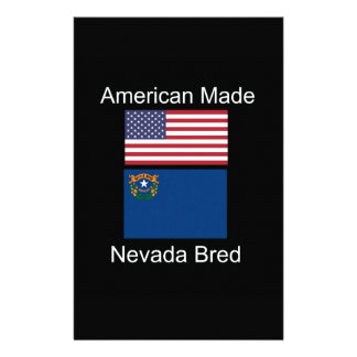 """""""American Born..Nevada Bred"""" Flags and Patriotism Stationery"""