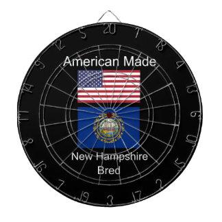 """""""American Born..New Hampshire Bred"""" Flag Design Dartboard"""