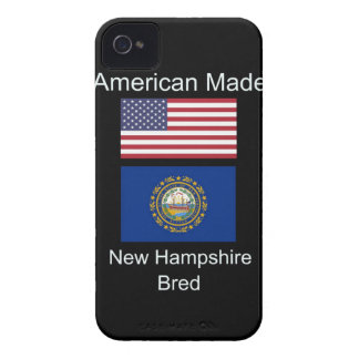 """American Born..New Hampshire Bred"" Flag Design iPhone 4 Cover"