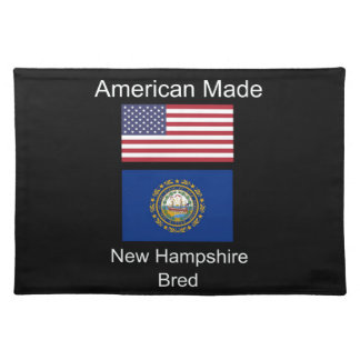 """""""American Born..New Hampshire Bred"""" Flag Design Placemat"""