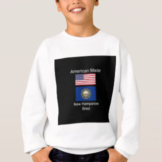 """American Born..New Hampshire Bred"" Flag Design Sweatshirt"
