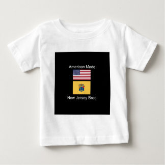 """""""American Born..New Jersey Bred"""" Flag Design Baby T-Shirt"""