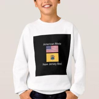 """American Born..New Jersey Bred"" Flag Design Sweatshirt"