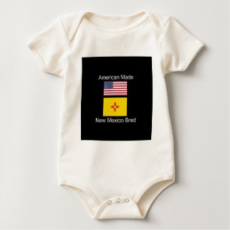 """American Born..New Mexico Bred"" Flag Design Baby Bodysuit"