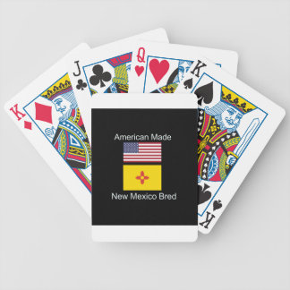 """American Born..New Mexico Bred"" Flag Design Bicycle Playing Cards"