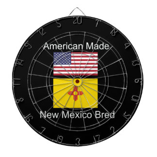 """American Born..New Mexico Bred"" Flag Design Dartboard"