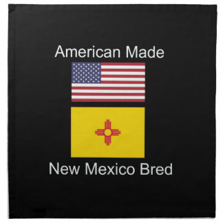 """American Born..New Mexico Bred"" Flag Design Napkin"