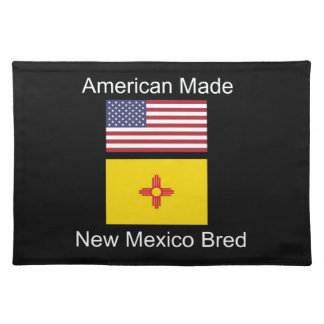 """""""American Born..New Mexico Bred"""" Flag Design Placemat"""