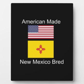 """""""American Born..New Mexico Bred"""" Flag Design Plaque"""