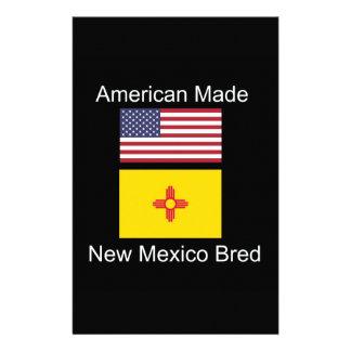 """American Born..New Mexico Bred"" Flag Design Stationery"