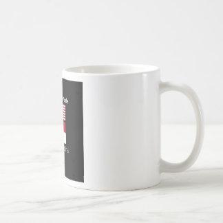 """American Born..North Carolina Bred"" Flag Design Coffee Mug"