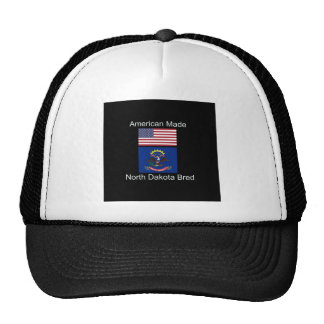 """American Born..North Dakota Bred"" Flag Design Cap"