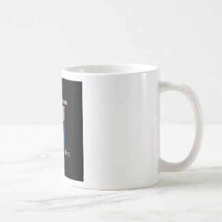 """American Born..North Dakota Bred"" Flag Design Coffee Mug"