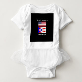 """American Born..Ohio Bred"" Flags and Patriotism Baby Bodysuit"