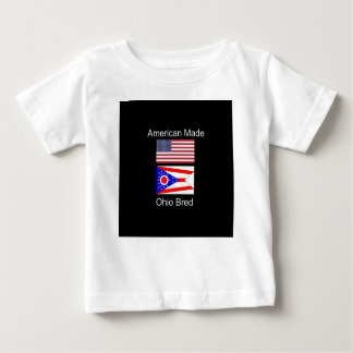 """American Born..Ohio Bred"" Flags and Patriotism Baby T-Shirt"