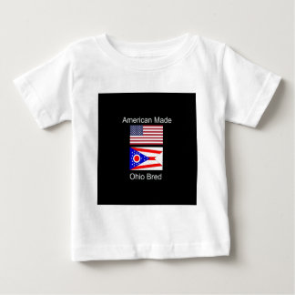 """""""American Born..Ohio Bred"""" Flags and Patriotism Baby T-Shirt"""