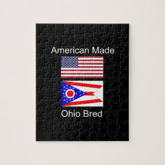 """American Born..Ohio Bred"" Flags and Patriotism Jigsaw Puzzle"