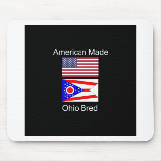 """""""American Born..Ohio Bred"""" Flags and Patriotism Mouse Pad"""