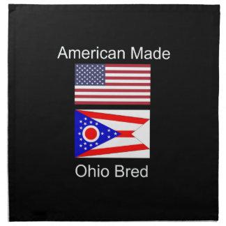 """American Born..Ohio Bred"" Flags and Patriotism Napkin"