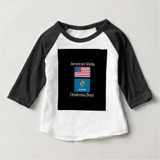 """American Born..Oklahoma Bred"" Flag Design Baby T-Shirt"