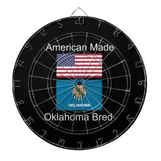 """""""American Born..Oklahoma Bred"""" Flag Design Dart Board"""