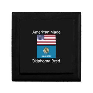 """American Born..Oklahoma Bred"" Flag Design Gift Box"