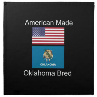"""American Born..Oklahoma Bred"" Flag Design Napkin"